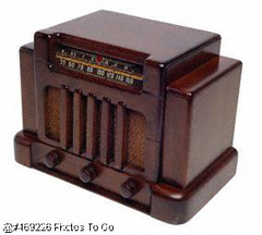 Old radio; Size=240 pixels wide
